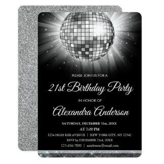 De zilveren 21ste Bal van de Disco van de Partij Kaart