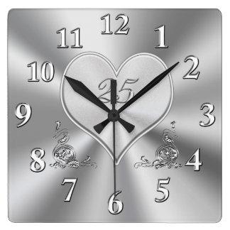 De zilveren 25ste Klokken van het Jubileum van het