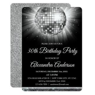De zilveren 30ste Bal van de Dans van de Disco van Kaart