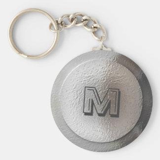 De zilveren Brief van het Monogram van de Maan Sleutelhanger