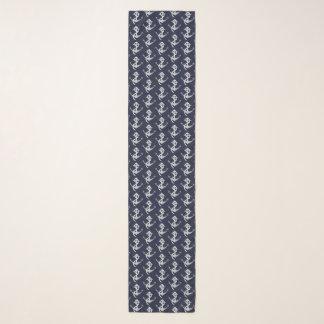 De zilveren en Marineblauwe ZeevaartSjaal van het Sjaal