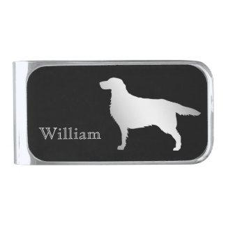 De zilveren Gepersonaliseerde Hond van de Zetter Verzilverde Geldclip