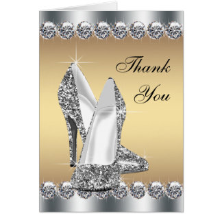 De zilveren Gouden Hoge Schoen van de Hiel dankt u Kaart