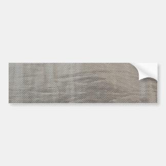 De zilveren Grijze Foiled Stof ziet eruit Bumpersticker