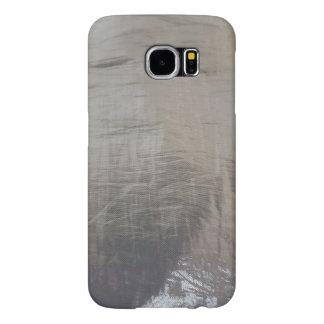 De zilveren Grijze Foiled Stof ziet eruit Samsung Galaxy S6 Hoesje