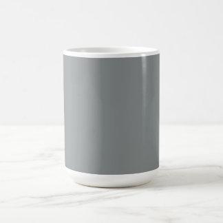 De zilveren Grijze Gepersonaliseerde Grijze Koffiemok