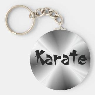 De Zilveren Karate Keychain van Faux Sleutelhanger