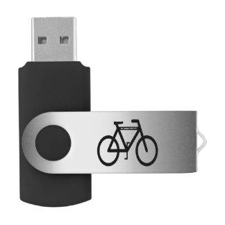 De zilveren MetaalWartel USB 2.0 van de Fiets de Swivel USB 2.0 Stick