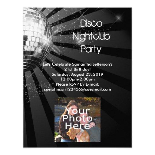 De zilveren Partij van de Bal van de Disco van de  Persoonlijke Uitnodiging