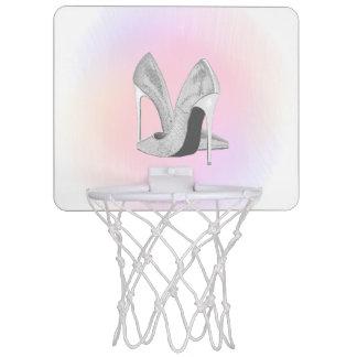 De zilveren Pastelkleuren van Hielen Mini Basketbalbord