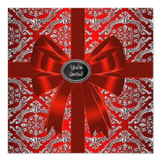 De zilveren Rode Partij van Kerstmis van het Kaart