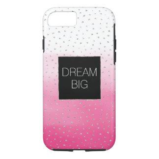 De zilveren Roze Waterverf Ombre van Confettien iPhone 8/7 Hoesje