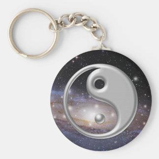 De zilveren Ruimte van de Melkweg van Ying Yang Sleutelhanger
