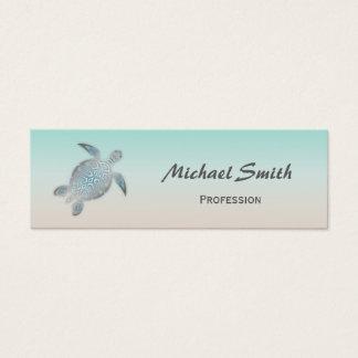 De zilveren Schildpad van het Zee Mini Visitekaartjes