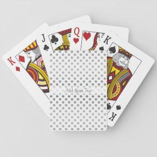 De zilveren Stippen van de Gradiënt door Shirley Pokerkaarten