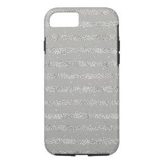 De zilveren Strepen van Confettien Sparkly iPhone 8/7 Hoesje