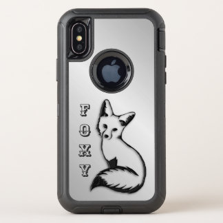 De zilveren Vos is Foxy OtterBox Defender iPhone X Hoesje