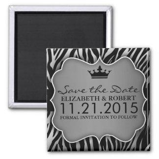 De zilveren Zwarte Untamed Gestreepte Druk bewaa Koelkast Magneetje
