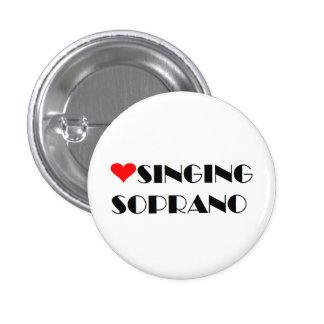 De Zingende Discant van de liefde Ronde Button 3,2 Cm