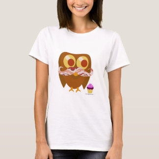 De zo Trendy Uil van het Bacon T Shirt