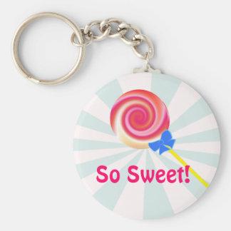 De zo Zoete Lolly Keychain van de Werveling Sleutelhanger
