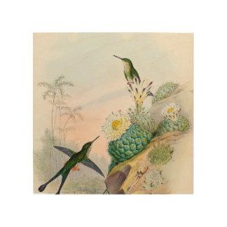 De zoemende Cactus die van de Vogel het Houten Hout Afdruk
