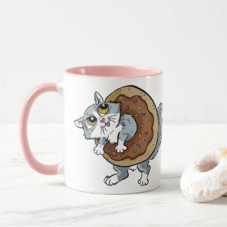De Zoete Doughnut van het kat Mok