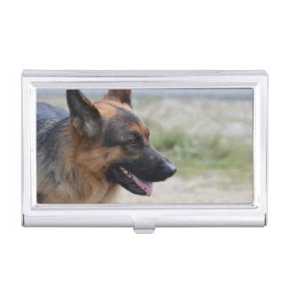 De zoete Hond van de Duitse herder Visitekaarthouder