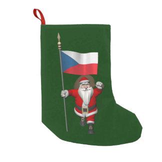De zoete Kerstman met Vlag van Tsjechische Kleine Kerstsok