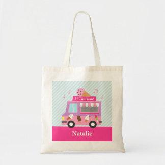 De zoete Paarse Roze Vrachtwagen van het Roomijs Draagtas