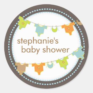 De zoete Sticker van het Baby shower van de Jongen