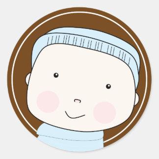 De zoete Sticker van het Baby van de Jongen