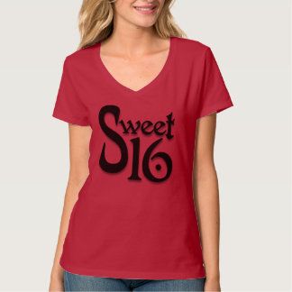 De zoete T-shirt van 16 Verjaardag