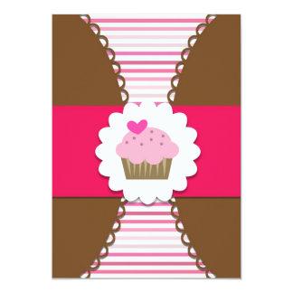 De zoete Uitnodiging van de Partij Cupcake voor