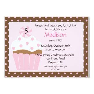 De zoete Uitnodiging van de Verjaardag Cupcake