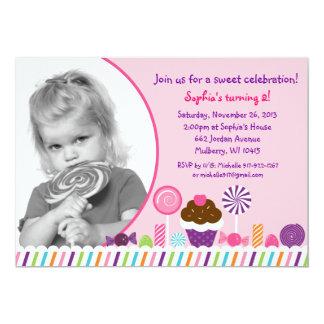 De zoete Uitnodiging van de Verjaardag van de Foto