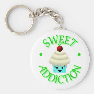 De zoete Zeer belangrijke Ketting van Cupcake van  Sleutel Hanger