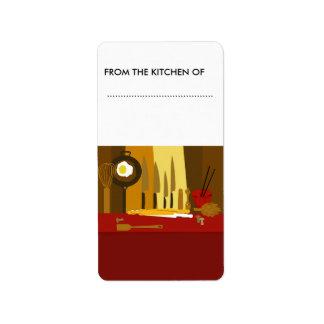 De Zoetigheden van de Kruiken van het voedsel Etiket