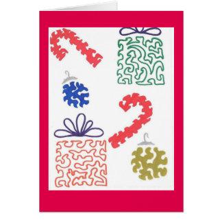 De zoetighedenkaart van Kerstmis Kaart