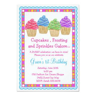 De zoetste Uitnodiging van de Verjaardag Cupcakes