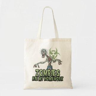 De zombieën aten Mijn Thuiswerk Budget Draagtas