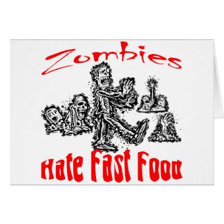 De zombieën haten Snel Voedsel Wenskaart