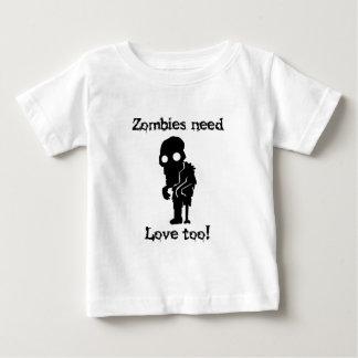 De zombieën hebben ook Liefde nodig Baby T Shirts