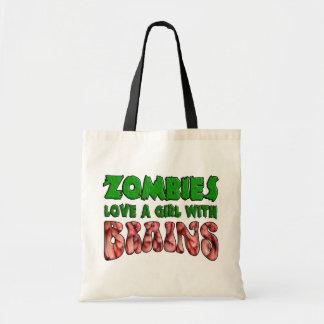 De zombieën houden van een Meisje met Hersenen Budget Draagtas