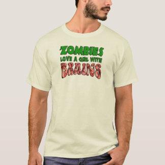 De zombieën houden van een Meisje met Hersenen T Shirt
