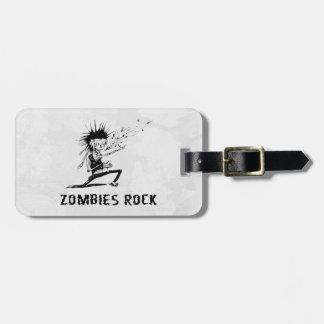 de zombieën schommelen kofferlabel