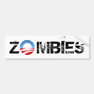 De Zombieën van Obama Bumpersticker