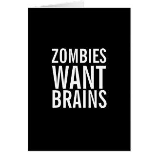 De zombieën willen Hersenen, bent u het Veilige Kaart