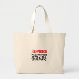 de zombieën willen me voor mijn hersenen grote draagtas