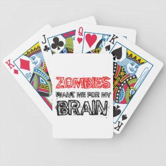 de zombieën willen me voor mijn hersenen pak kaarten